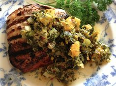 Eat Live Grow Paleo - Salmon with Citrus and Herb Sauce