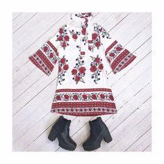 Desert Rose bohemian dress with neck tie.  little-lies.com/shop/desert-rose-dress/