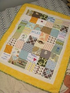 Onesie quilt - Love this idea for all the cute onesies with memories attached.