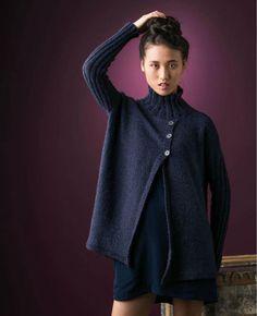 Вязание жакета спицами TURTLENECK Опубликован в журнале: knit.wear, Fall/Winter 2013  Дизайнер: Jennifer Dassau