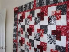 Thread: My Hanky Panky quilt - done in red/white/black