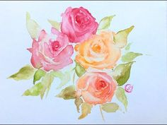 Watercolor Roses Painting Demonstration - YouTube