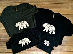 Bear Family T-shirts by hookandfindesignco on Etsy