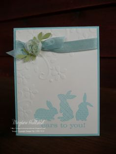 Megumi's Stampin Retreat: Elegant Bouquet Ears to You Card