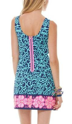 Lilly Pulitzer Delia Shift Dress- pink exposed zipper back