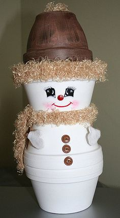 Crafts Clay Pots - Snowman - 2005 | I love making thing with… | Flickr