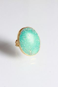 A Beautiful Iranian Dark Turquoise Gemstone Ring Zoe Alexander