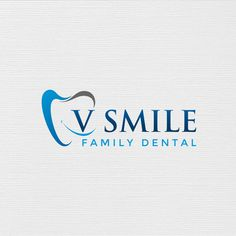 V Smile Family Dental - Create a cool design for a family dental practice We are a dental office catering to people of all ages. Unique Business Cards, Business Card Logo, Business Card Design, Dental Clinic Logo, Dentist Logo, Graphic Design Branding, Logo Design, V Smile, Facebook Cover Design