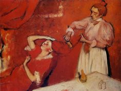 La Coiffure, ca 1896 by Edgar Degas (French, Post-Impressionism, 1834–1917) http://www.feelmoved.com/degas-combing-the-hair-la-coiffure/