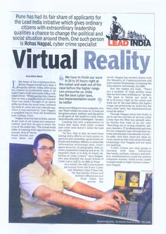 The Times of India - Lead India - Virtual Reality - www.AsianLaws.org