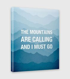 the mountains are calling and I must go wall art