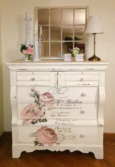 7 Narrow Dressers for Small Spaces You Need to Consider Decoupage Furniture, Diy Furniture Projects, Refurbished Furniture, Repurposed Furniture, Shabby Chic Furniture, Shabby Chic Decor, Furniture Makeover, Vintage Furniture, Furniture Decor