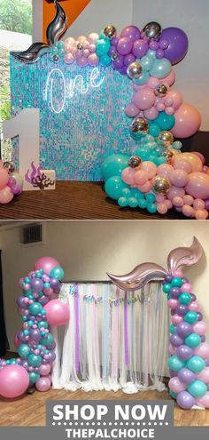 Are you planning a mermaid birthday party for your daughter, Little Mermaid Party Supplies, Little Mermaid Decorations, Mermaid Birthday Decorations, Mermaid Theme Birthday, Little Mermaid Birthday, Little Mermaid Parties, Unicorn Birthday Parties, Purple Birthday, 4th Birthday