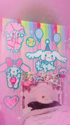 Need A Change, Pastel Goth, Sanrio, Kawaii, Neon Signs, Wall Art, Create, Room, Drawings