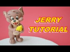 TUTORIAL JERRY CAKE TOPPER SUGAR PASTE FONDANT PASTA DI ZUCCHERO TORTA - YouTube