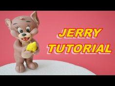 TUTORIAL JERRY CAKE TOPPER SUGAR PASTE FONDANT PASTA DI ZUCCHERO TORTA - YouTube