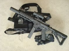 double diamond with Colt or Uzi mags and CTR stock Military Weapons, Weapons Guns, Guns And Ammo, Rifles, Tactical Survival, Tactical Gear, Airsoft, Ar Pistol, Submachine Gun