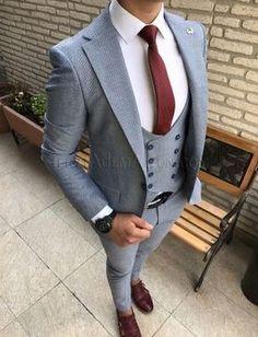 Terziademaltun - İtalyan stil cepken yelekli erkek takım elbise slim fit T1761 (1) #MensFashionSuits