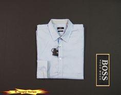 """HUGO BOSS """"Robbie"""" Light Blue Slim Fit Tonal Pattern Sport Shirts NEW NWT $145 #HugoBoss #ButtonFront"""