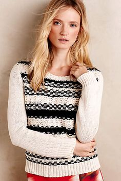 Anthropologie EU Reeve Pullover by Peter Som.