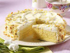 Layer cake with white chocolate - how it works /Schichttorte mit weißer Schokolade - so geht's