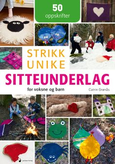 Image for Strikk unike sitteunderlag from Norli Diy And Crafts, Barn, Kids Rugs, Knitting, Crochet, Inspiration, Image, Knits, Decor