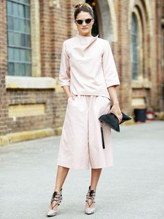 An Unexpectedly Elegant Look You Can Wear Right Now via @WhoWhatWear