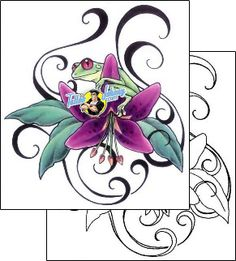Frog Tattoo reptiles-and-amphibians-frog-tattoos-gail-somers-gsf-00499