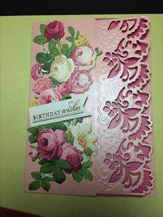 Card featuring Anna Griffin Decorative Border Dies