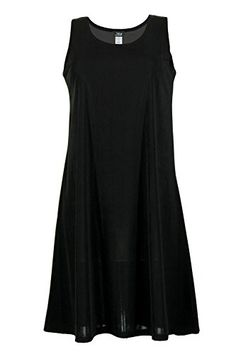 Jostar Sleeveless Solid Stretchy Tank Short Dress in Black XLarge * Continue to the product at the image link.