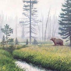 Hush Of The Land - The Scapegoat Wilderness, Keep it Wild #art #artist #black-bear #flowers #fog #haystack-butte #hush #land #landscape #mist #montana #monte-dolack #quiet #scapegoat-wilderness #sky #smoke-elser #water #wilderness #wildflowers