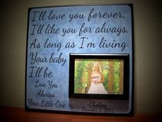 I'll LOVE YOU FOREVER I'll Like You For Always by YourPictureStory, $65.00
