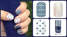 """I have mad love for this Jamberry Nails combination of """"Mad Mod"""", """"Puppy Love"""" and """"White Polka"""" over """"Stormy Seas!""""  www.jorear.jamberrynails.net"""