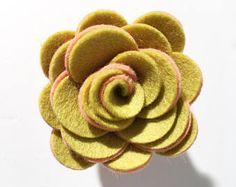 Felt Succulent Chart Loose succulents or on a stem