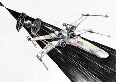 X-wing by micorl.deviantart.com on @DeviantArt