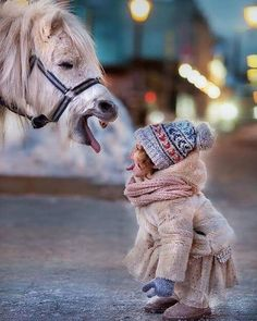 Girl plays with horse | 12 Horse Photos of the Week