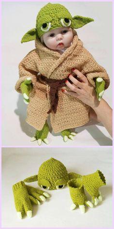 Crochet Yoda Costume Pattern Crochet Yoda Costume Pattern # Crochet Baby Costumes Crochet Baby Yoda Costume …Crochet Baby Yoda Costume Pattern, Good Gift Idea for Newborn – CarolaBaby Yoda Ornament Free Crochet Pattern Baby Yoda Costume, Crochet Baby Costumes, Crochet Baby Clothes, Crochet Baby Outfits, Crochet Baby Stuff, Baby Patterns, Knitting Patterns, Crochet Patterns, Crochet Ideas