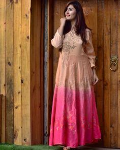 """d723972b19c Designer Sarees JAIPUR on Instagram  """"gown banarasi  shaded  party wear gown   swarovski  pink  peach  designer  sarees """""""