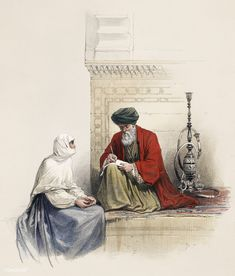 The letter writer in Cairo illustration by David Roberts (1796-1864).   free image by rawpixel.com