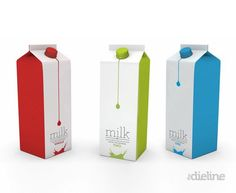 This packaging is great!  The bright colors make it so eye-catching.  When I first saw it, I immediately wanted to enlarge the photo to see exactly what the product was.  This puts a very creative spin on something as simple as milk.