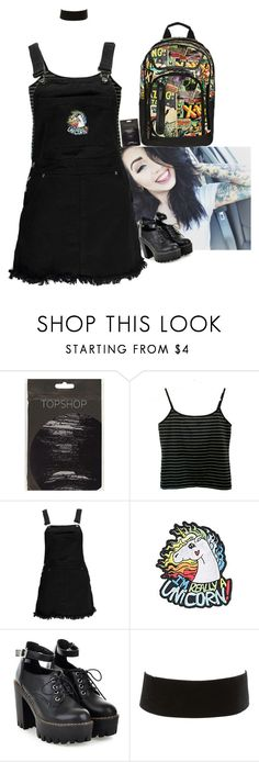 """""""Iris Luke Landreth: School Day"""" by lifesucks-musichelps ❤ liked on Polyvore featuring Boohoo, Hot Topic, Charlotte Russe and Marvel"""
