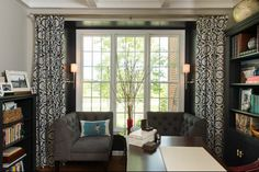 Corner sofa pieces -Transitional Home Office by Your Favorite Room By Cathy Zaeske