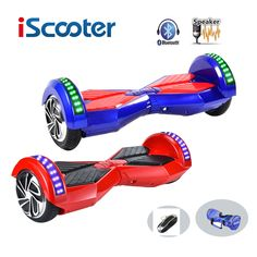 New iScooter hoverboard  8 inch 2 Wheel Self Balancing ScootersSmart Electric Scooter Balance Hover Board with LED Bluetooth //Price: $259.59//     #Gadget