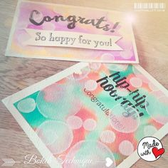 I just love the big sentiments that are in the Bravo stamp set - but they are a bit of a challenge as they are so BIG. They ideally just need to be on a pretty piece of DSP or a back ground all on...