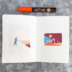 #sketchbook #posca #lemoustoir #arradon