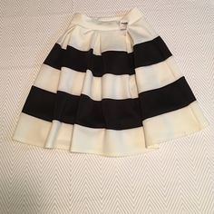 Black and White Striped Skirt Gorgeous black and white striped full skirt from Charlotte Russe, size XS. Elastic waist with plenty of stretch. Meant to be worn high waisted and falls just above or at the knees depending on height. Fabric is a good weight and is great for any season. Any questions, please ask. Make me an offer! All items from a smoke free home. Bundle discounts! Same/next day shipping! Thanks for looking! Charlotte Russe Skirts A-Line or Full