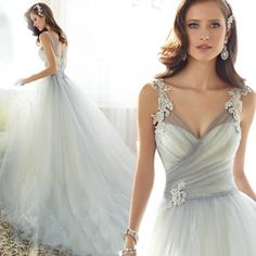 Unique Designer Wedding Dress Fashion Bridal Bridesmaid Dress Women Formal Gown missdress E008
