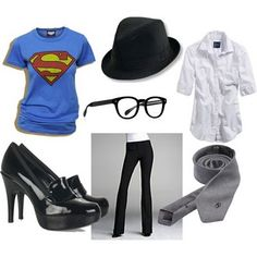 superman clark kent halloween costume [for women?] http://penny-laine.blogspot.com/2010/10/polyvore-link-party-polyvore-play-clark.html