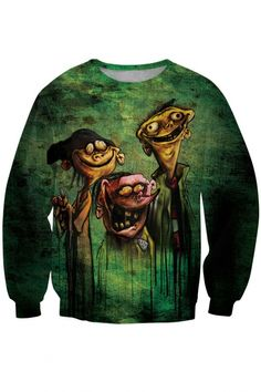 Naughty Green Cartoon Animal Sweatshirt - OASAP.com. Buy Latest fashion  fads Lovers clothes print Funny ... 52e8ab06d