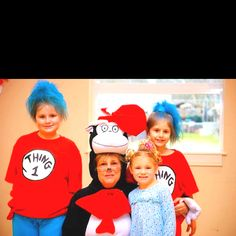 The girls had a great time dressing up for our Dr. Suess Party